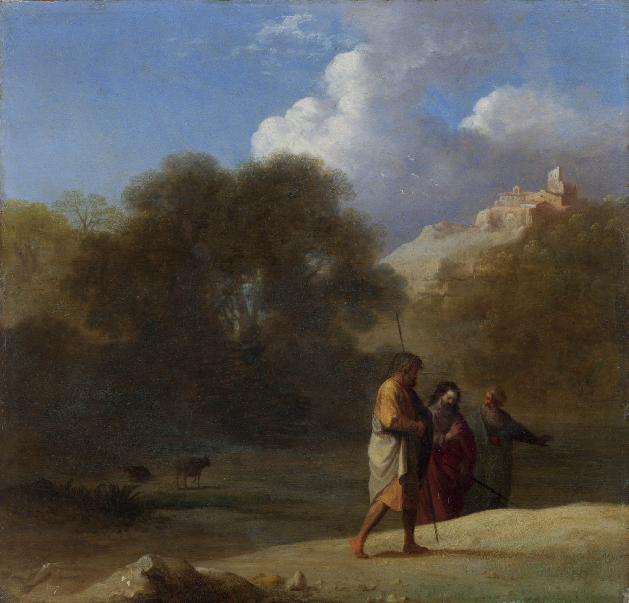 Cornelis van Poelenburgh – Christ on the Road to Emmaus
