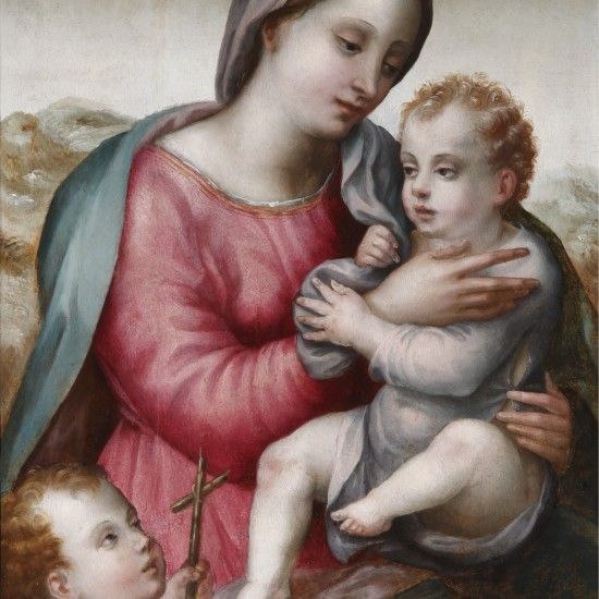 Master of Volterra – The Madonna and Child with the Infant St John the Baptist