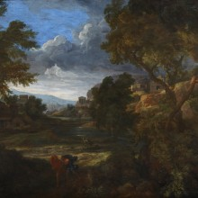 Gaspard Poussin - Valley Landscape with a Tempest