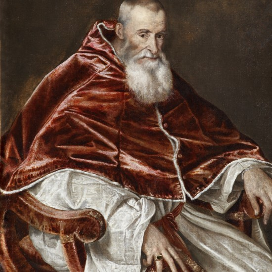 Titian – Portrait of Alessandro Farnese, Pope Paul III