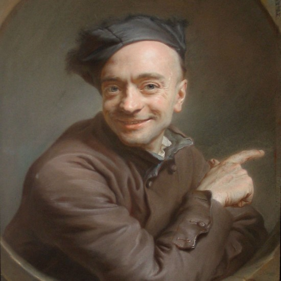 Maurice Quentin de La Tour – Self-portrait, L'autoportrait à l'index or L'autoportrait à l'œil de bœuf