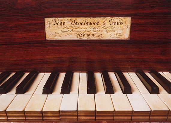 Elgar's Broadwood square piano, front