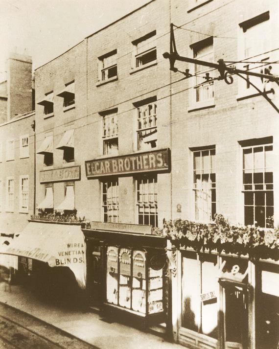 Elgar Bros. premises in Worcester