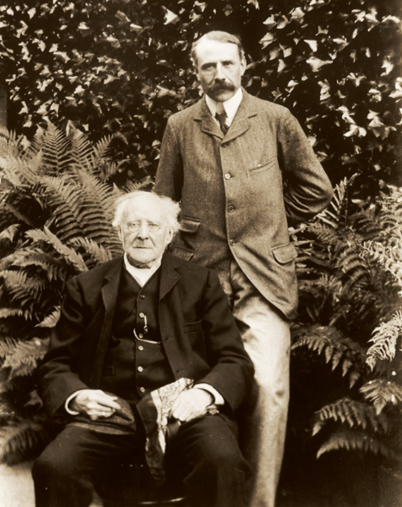 Elgar with his father
