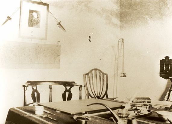 The study at Birchwood Lodge where the piano stood